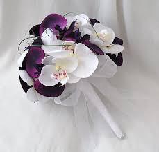 wedding flowers orchids wedding flowers brides bouquet 2 bridesmaids posies white