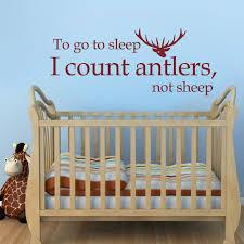 stickers mouton chambre bébé à aller à dormir je compte antlers pas des moutons vinyle sticker