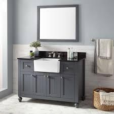 farmhouse bathrooms ideas bathroom 48 inch nellie farmhouse bathroom vanity in dark grey