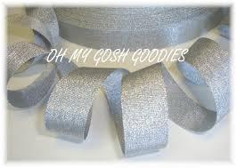 silver glitter ribbon bling grosgrain glitz ribbon cheer ribbon silver bling ribbon
