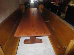 Church Benches Used Long Tables With Church Pews Used For Seating Picture Of Cornish