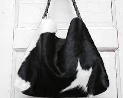 Cowhide Overnight Bag Cowhide Bag Etsy