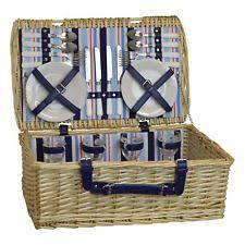 Picnic Basket Set For 2 Wicker Picnic Basket Ebay