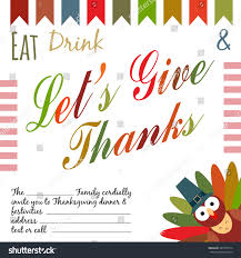 thanksgiving place cards template thanksgiving invitation card flyer template invitation stock