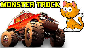 kids monster truck videos cat monster truck stunts for kids monster truck animated videos