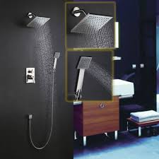 modern brushed nickel wall mounted shower system with handshower modern brushed nickel wall mounted shower system with handshower free shipping showersystem