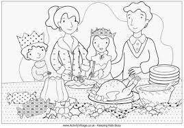 family christmas dinner colouring christmas