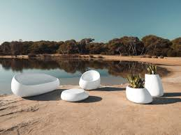 Modern Outdoor Round Table Fontana White Gray Modern Outdoor Chair Modern Outdoor Furniture