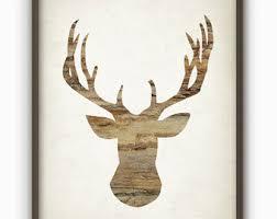 deer wood wall deer wall decor etsy