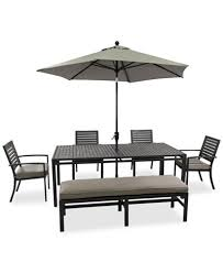 Marlough Outdoor Aluminum Pc Dining Set  X  Dining Table - Outdoor aluminum furniture