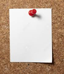 Pin Board Note Paper With Push Pins On Cork Board Stock Photo Picture And