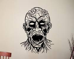 aliexpress com buy zombie head wall sticker vinyl decal home aliexpress com buy zombie head wall sticker vinyl decal home interior art decoration living room bedroom bathroom horror decor waterproof mural from