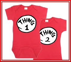 dr seuss thing1 thing 2 onesie thing 1 thing two twin onesies