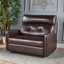 Two Seater Recliner Chairs Halima Faux Leather 2 Seater Recliner Club Chair By Christopher