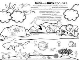 and abiotic factors illustration for using as notes or a worksheet