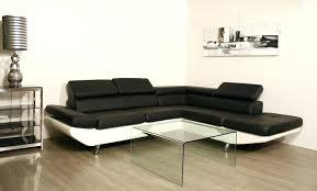 canapé d angle imitation cuir canape angle noir et blanc meublesline canapac dangle 4 places