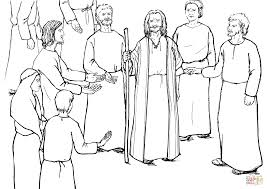 moses speaks to the israelites coloring page free printable