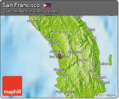 san francisco quezon map free physical map of san francisco