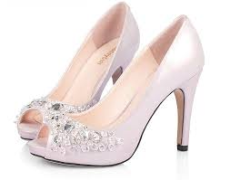 wedding shoes pink peep toe high heel rhinestone fashion pink wedding shoes