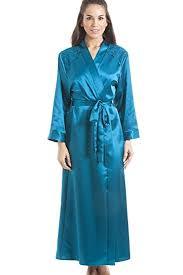robe de chambre longue robe de chambre longue satin vert camille amazon fr vêtements