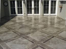 how to add dimension to a stained concrete tile pattern concrete