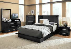 Bedroom Set With Media Chest Dimora 7 Piece Queen Panel Bedroom Set With Media Dresser Black