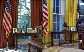 gold drapes oval office oval office renovation the white house redesign