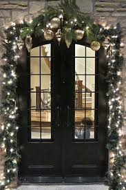 5 ways to decorate your black door in time for christmas