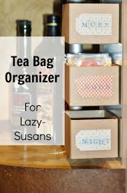 A Cozy Kitchen by A Cozy Place For Tea Organizing Tea Bags In A Lazy Susan