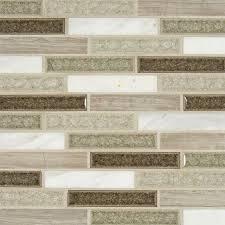 Crystal Cliffs Glass Stone Blend Mosaic Interlocking Pattern Mm - Glass stone backsplash