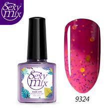 chagne gift set mix 24 colors uv temperature color change nail gel set