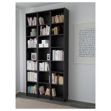 Narrow Black Bookcase by Billy Bookcase White 120x237x28 Cm Ikea
