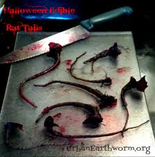 really scary halloween party games edible rat tails one ingredient beets as halloween food or for
