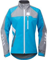 cycling jacket blue hump strobe womens waterproof cycling jacket tredz bikes
