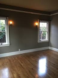Grey Walls Wood Floor by Our Home Renovation Staining And Sealing The Floors Mary Ann