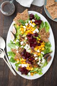 fall salad with fig balsamic vinaigrette and quinoa brittle recipe