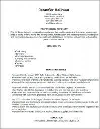 Bartender Resume Templates Download Bartender Resume Template Haadyaooverbayresort Com