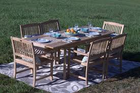 Patio Furniture Review Pebble Lane Living 7 Piece Teak Wood Patio Dining Set Review