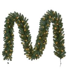 Outdoor Garland With Lights by 12 Ft Pre Lit Fairwood Garland X 340 Tips With 100 Ul Indoor