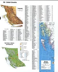 Map Of Bc British Columbia Detailed Mapfree Maps Of North America