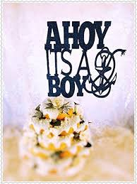 amazon com ahoy it u0027s a boy baby shower cake topper handmade