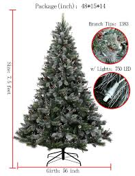 amazon com abusa prelit frosted artificial christmas tree 7 5 ft