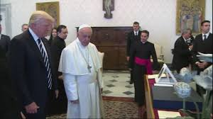 trump pope francis president trump visits pope francis youtube
