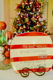 painted dollar tree christmas plate want to make this with gold
