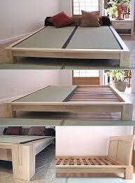 platform beds low platform beds japanese solid wood bed frame