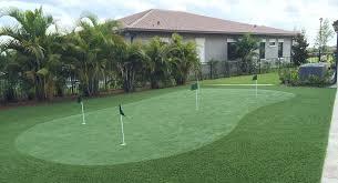Artificial Backyard Putting Green by Home Putting Greens Backyard Synthetic Grass Putting Green