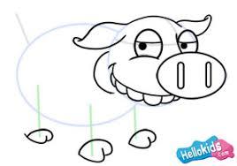 how to draw how to draw a pig hellokids com