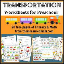 preschool literacy worksheets the measured