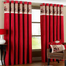 emejing red curtains for living room pictures home decorating
