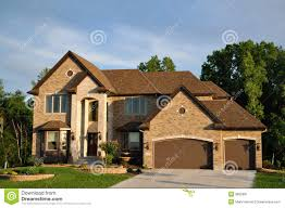 Two Story Houses by Luxury Two Story Suburban Executive Home Stock Image Image 9665881